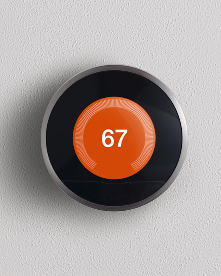 A smart thermostat.