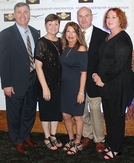 Pictured here, from left, are: U.S. Army Ranger Col. (ret.) Steve Banach, Bon Secours Charity Health System Community Liaison and TSCC President Mary Decker, O&R Regional and Community Affairs Manager and TSCC 1st Vice President Aileen Sullivan, 1984 Olympic Gold Medalist Lou Banach, and TSCC Executive Director Charlene Trotter.
