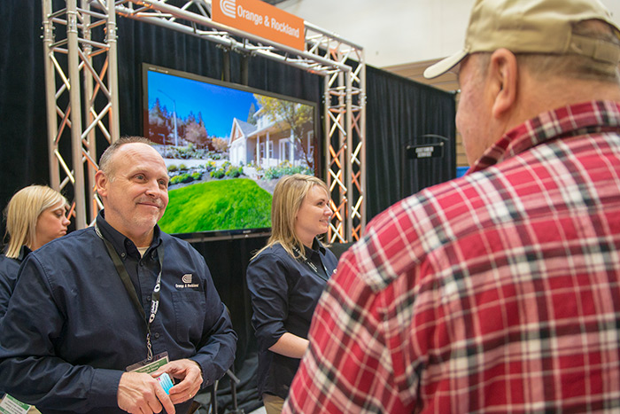 Customers at the O&R booth at last years Orange County Home Show.