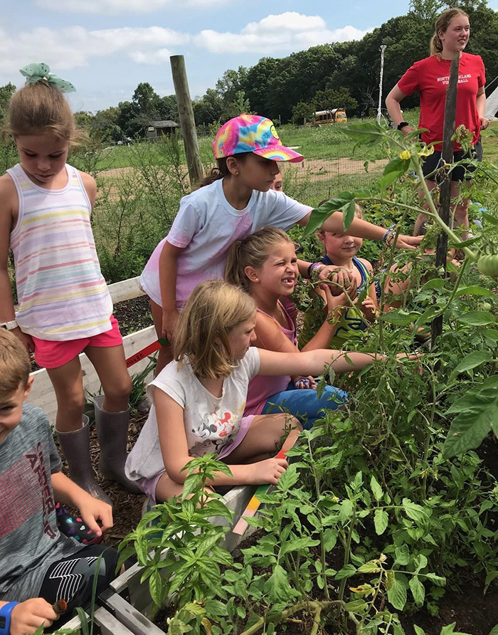 Students at the Rockland Farm Alliance Agricultural Education Program are getting a hands-on feel for farm work as they pick tomatoes last week in New City. Pictured here picking are, from left: Aidan Smith, Grace Moschetti, Ella Smith, Charlotte Salvis, Charli Squilla and Ellie McCluskey.