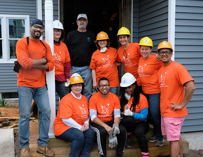 O&R employees volunteering for Habitat for Humanity